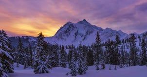 Mt Shuksan at Sunrise Royalty Free Stock Images