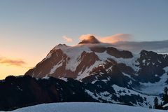 Mt. Shuksan Sunrise Stock Photo