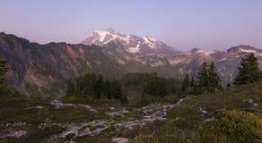 Mt Shuksan at Sunset Royalty Free Stock Photos