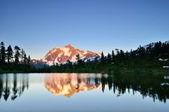 Mt. Shuksan Sunset Royalty Free Stock Photography