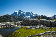 Mt Shuksan, Washington state Cascades Stock Image