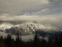 Mt. Si. Snow covered Mt. Si near North Bend, WA Stock Photography