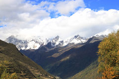Mt Siguniangshan Stockfotografie