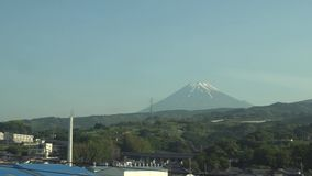 mt-sikt washington Fuji från ett kuldrev stock video
