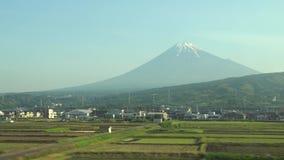 mt-sikt washington Fuji från ett kuldrev lager videofilmer