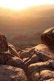 Mt Sinaí en la salida del sol Fotografía de archivo