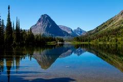 Mt Sinopah Reflected In Pray Lake Royalty Free Stock Images