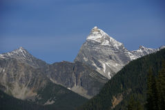 Mt Sir Donald, with blue sky, Stock Image