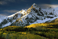 Mt. Sneffels in Fall color and Stock Image
