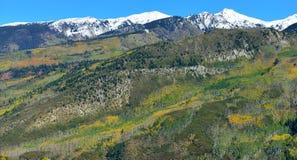 Mt Sopris during foliage season in Colorado Stock Photography