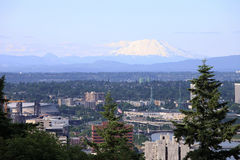 Mt. St. Helen's and north Portland OR. Royalty Free Stock Photos