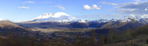 Mt. St. Helen's Panorama. Royalty Free Stock Image