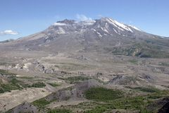 Mt St Helens. Mt. St. Helen's from a distance with surrounding mountains, and vegetation Stock Images
