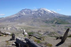 Mt St Helens. Mt St Helen's and the surrounding landscape Royalty Free Stock Photos