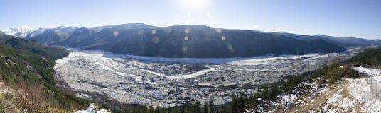 Mt St Helens con il chiarore della lente Fotografia Stock