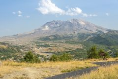 Mt. St. Helens landscape in Summertime. Stock Photo