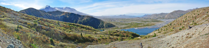 Mt St Helens Panorama Stock Image