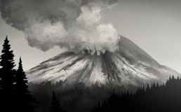 Mt. St. Helens Uitbarsting Stock Afbeelding