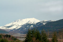 Mt. St. Helens and Valley Royalty Free Stock Photo