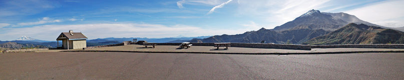 Mt St Helens Viewpoint Panorama Royalty Free Stock Photo