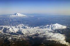 Mt. St Helens y Mt. Adams, Washington Fotografía de archivo