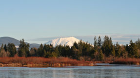 Mt.-Str. Helens und silberner See Stockbilder