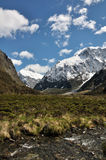 Mt.Talbot & Mt.Crosscut. Taken at little's flat, fiordland national park, New Zealand royalty free stock image