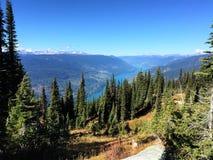 从Mt. Tallac的视图在Tahoe湖 Revelstoke 库存图片
