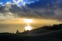 Mt Tam Sunset royalty free stock photo