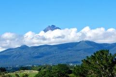 Mt Taranaki da Omata fotografia stock libera da diritti