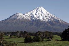 Mt Taranaki/egmont. Over farm land Stock Photography