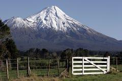 Mt Taranaki/egmont e rete fissa Fotografia Stock Libera da Diritti