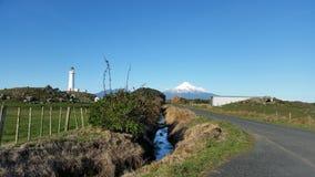 MT Taranaki en Kaap Egmont in Nieuw Zeeland Stock Afbeelding