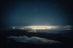 Mt Taranaki night view Stock Images
