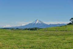 Mt Taranaki in rural setting stock images