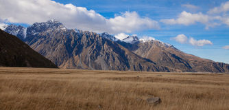 Mt Tasman and Mt Cook valleys New Zealand Royalty Free Stock Photo