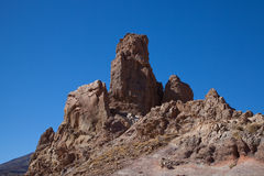 Mt Teide rocky outcrops Stock Photos