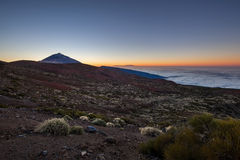 Mt. Teide volcano at sunset Royalty Free Stock Photography
