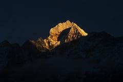 Mt. Tharmserku nel Nepal Fotografie Stock Libere da Diritti