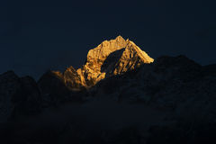 Mt. Tharmserku in Nepal Royalty Free Stock Photos