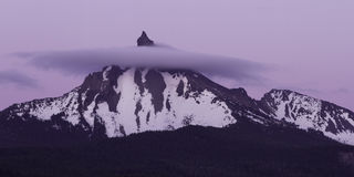 Mt Thielsen,俄勒冈 免版税库存照片