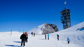 Mt Titlis in der Schweiz Stockfotos