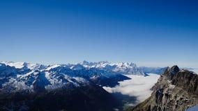 Mt Titlis i Schweiz Fotografering för Bildbyråer