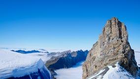 Mt Titlis i Schweiz Arkivbilder