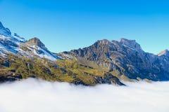 Mt Titlis i Schweiz Arkivbild