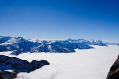 Mt Titlis i Schweiz Arkivfoto