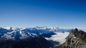 Mt. Titlis in Switzerland. Alps, view from Mt. Titlis in Switzerland Stock Image