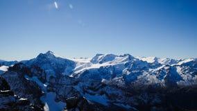 Mt. Titlis in Switzerland. Alps, view from Mt. Titlis in Switzerland Stock Photos