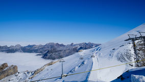 Mt. Titlis in Switzerland. Alps, view from Mt. Titlis in Switzerland Royalty Free Stock Image