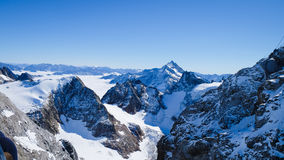 Mt. Titlis in Switzerland. Alps, view from Mt. Titlis in Switzerland Royalty Free Stock Photos